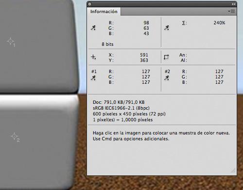 Dos píxeles de diferentes, valores RGB idénticos